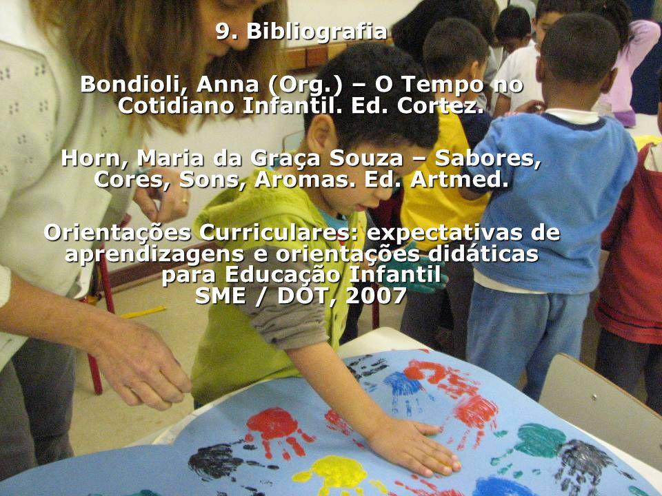 Bondioli, Anna (Org.) – O Tempo no Cotidiano Infantil. Ed. Cortez.