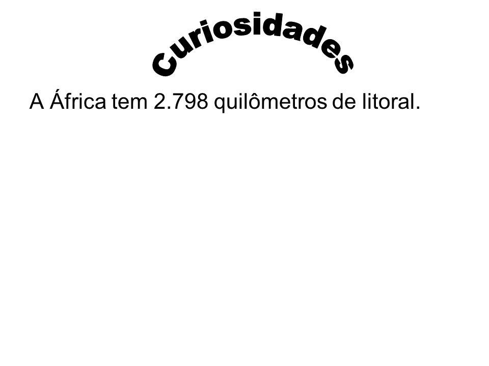 Curiosidades A África tem 2.798 quilômetros de litoral.
