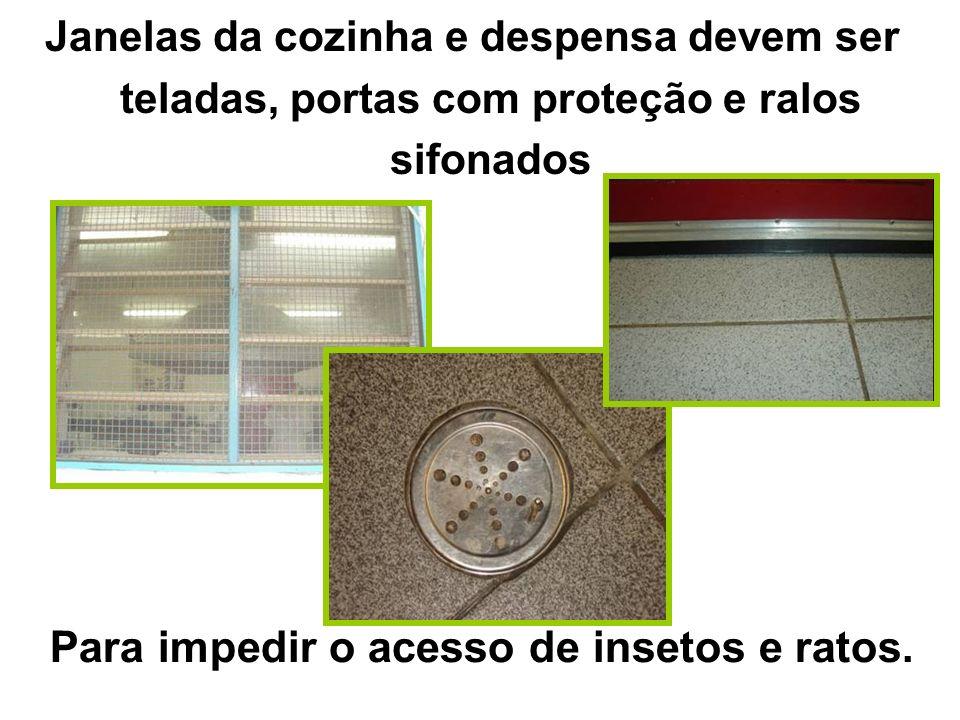 Para impedir o acesso de insetos e ratos.