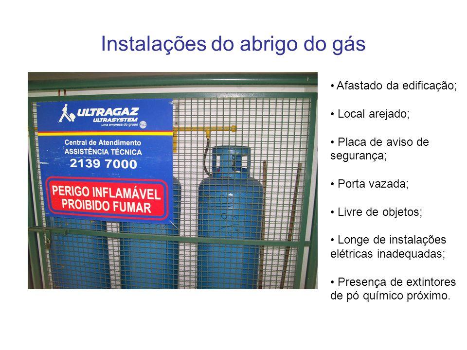 Instalações do abrigo do gás