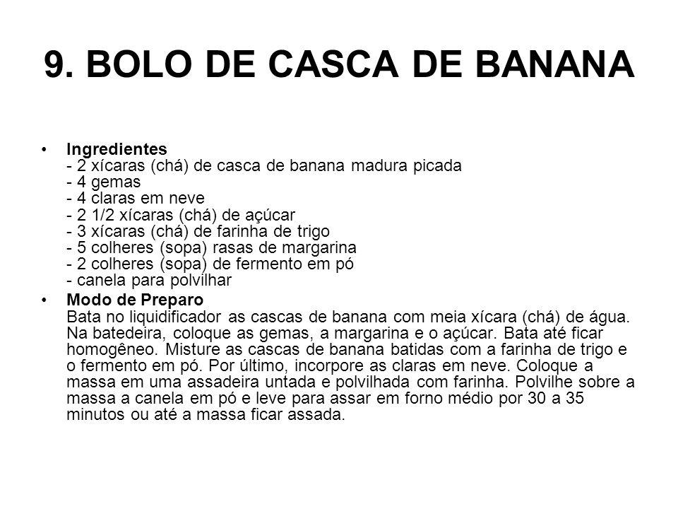 9. BOLO DE CASCA DE BANANA