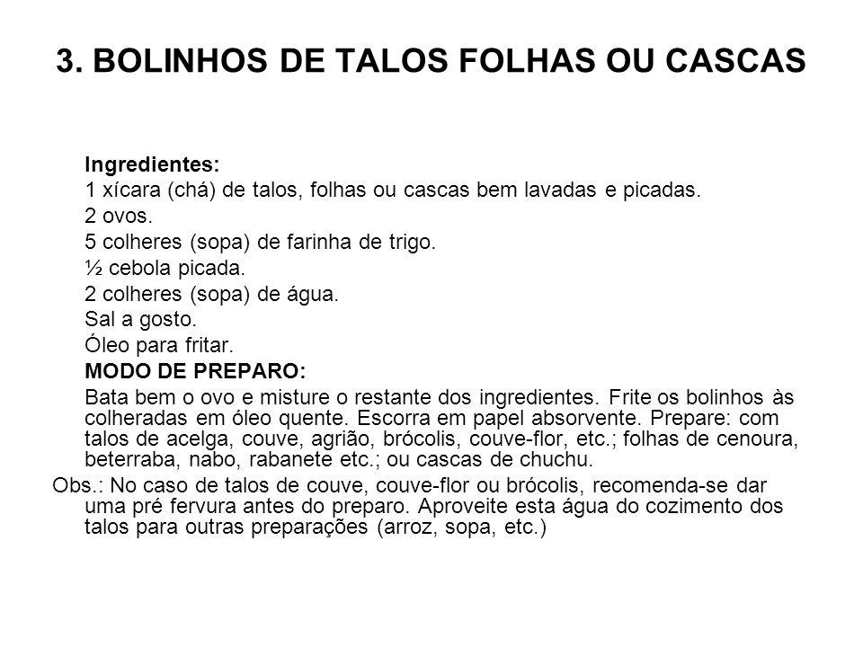 3. BOLINHOS DE TALOS FOLHAS OU CASCAS
