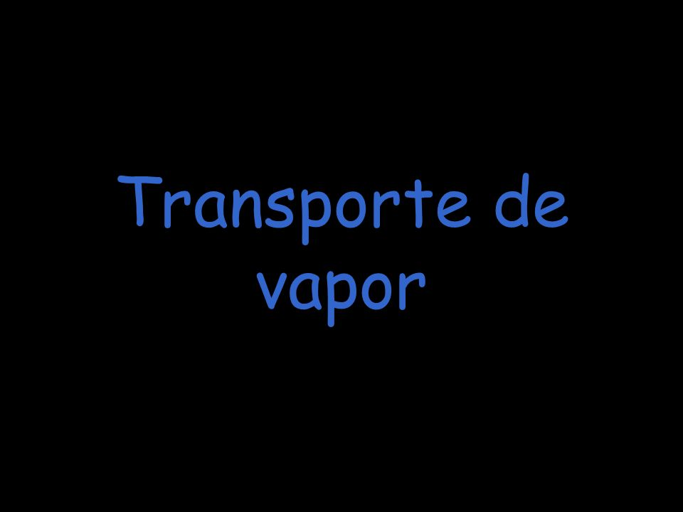 Transporte de vapor