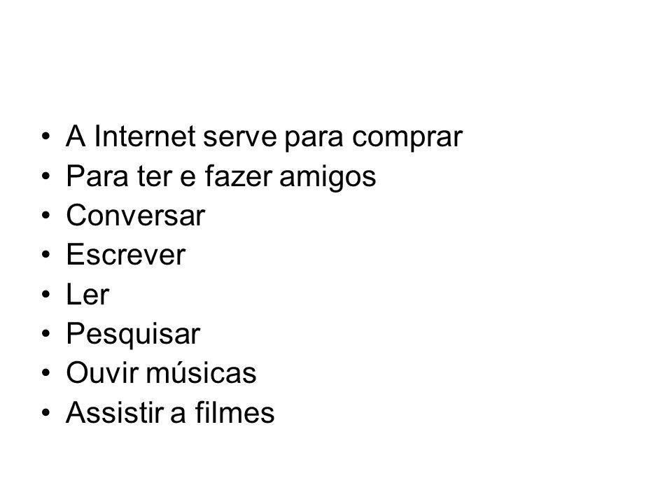 A Internet serve para comprar