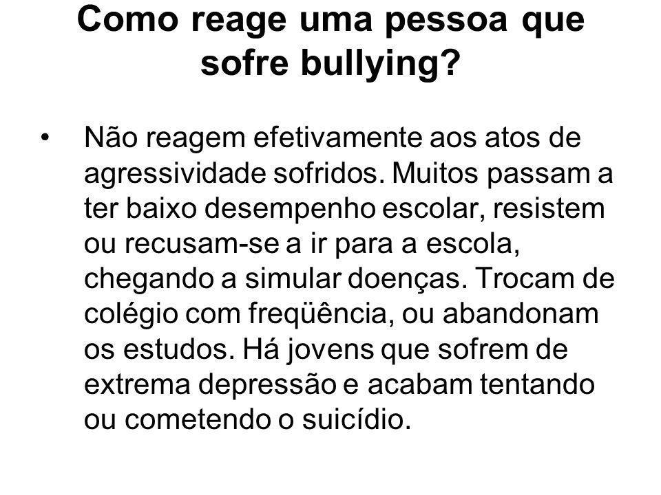 Como reage uma pessoa que sofre bullying