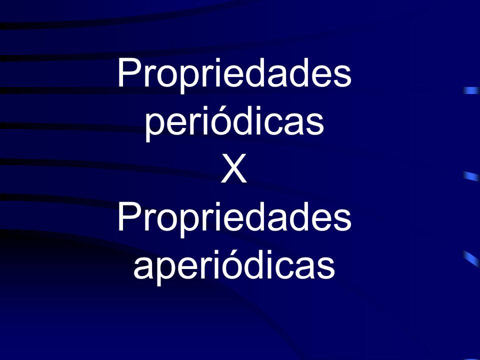 Propriedades periódicas X Propriedades aperiódicas