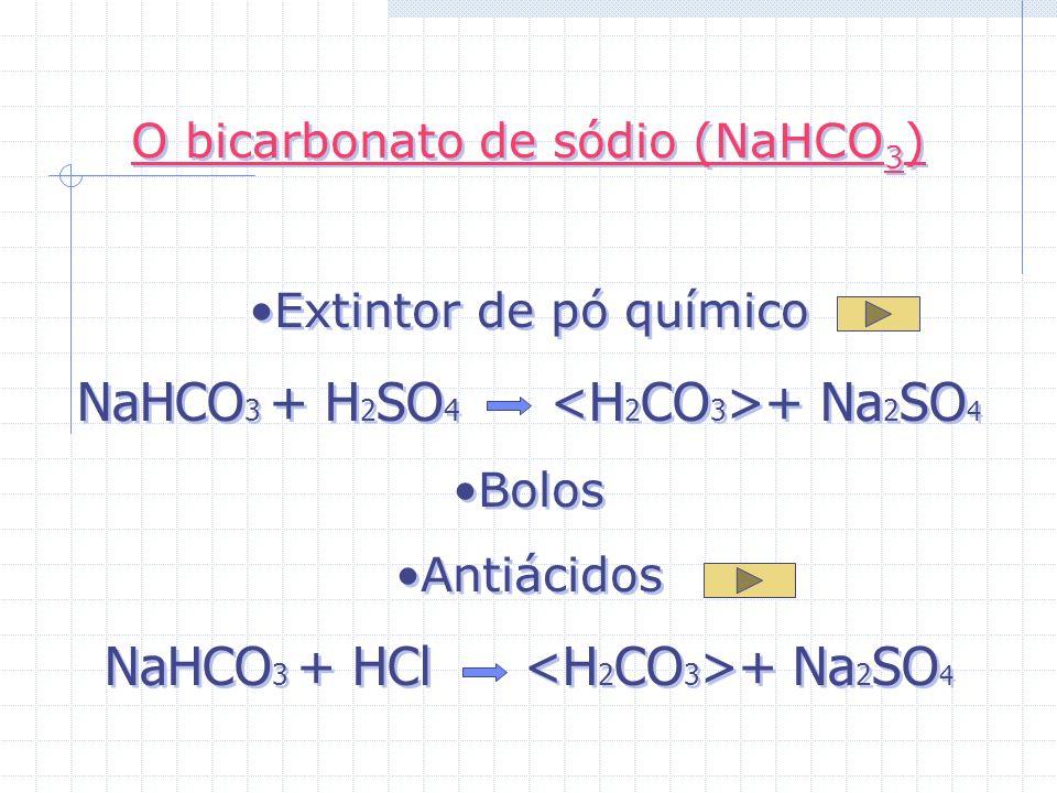 NaHCO3 + H2SO4 <H2CO3>+ Na2SO4