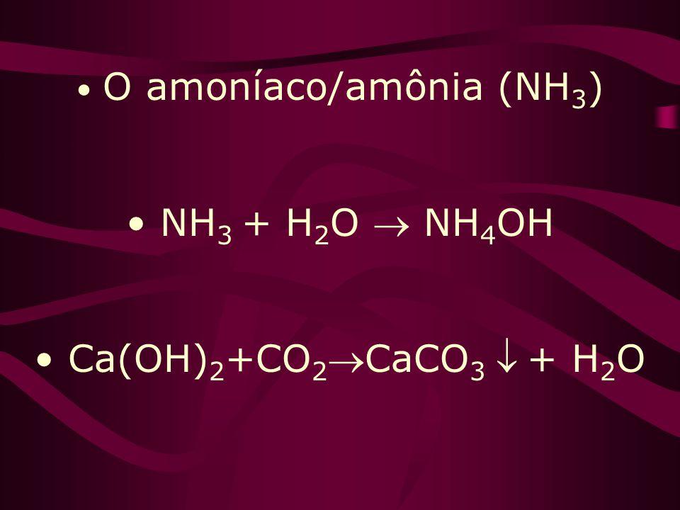 O amoníaco/amônia (NH3)