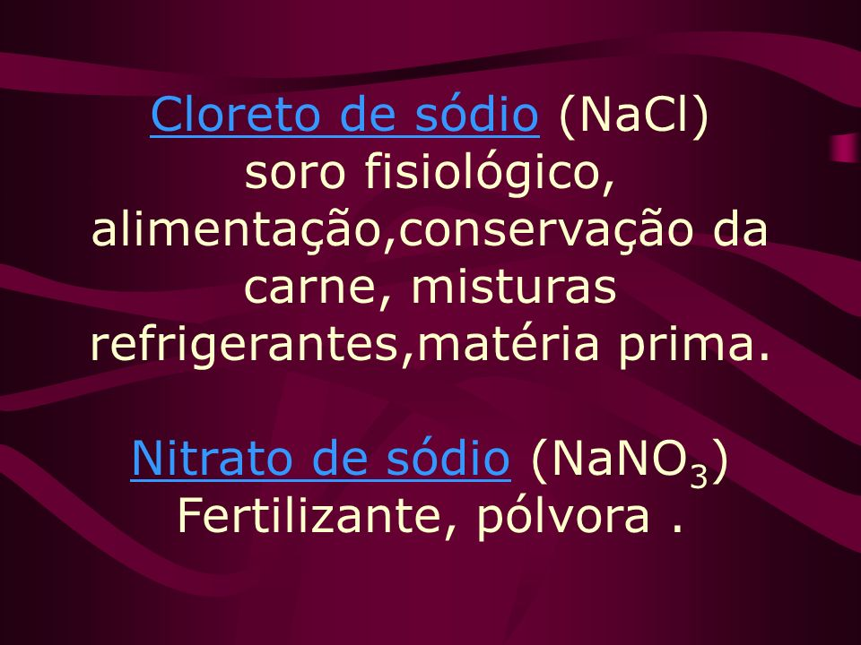 Nitrato de sódio (NaNO3) Fertilizante, pólvora .