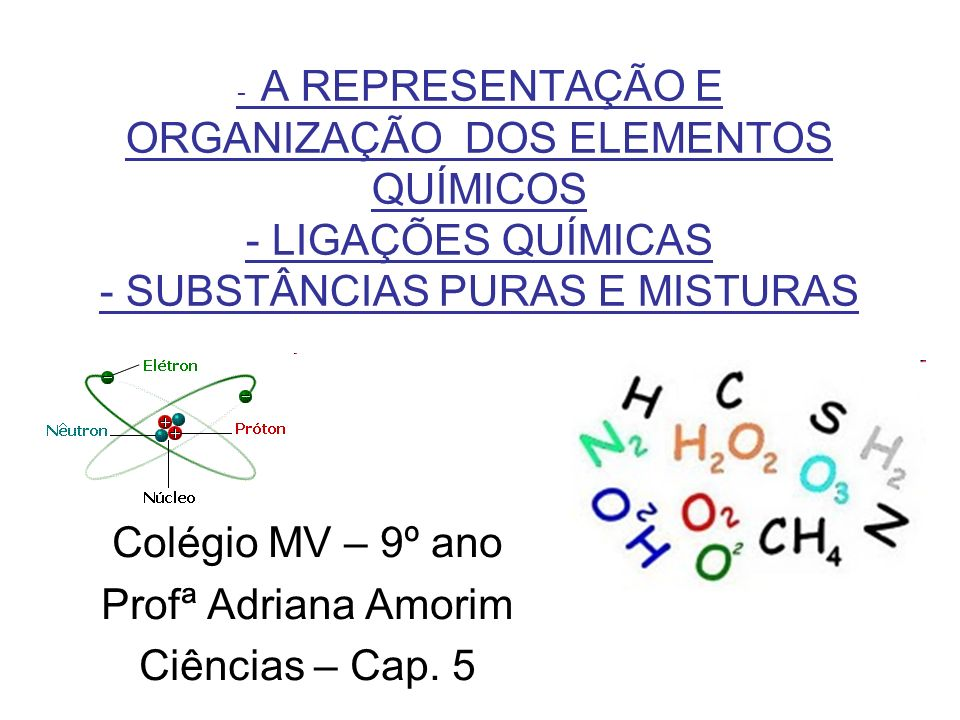 Colégio MV – 9º ano Profª Adriana Amorim Ciências – Cap. 5
