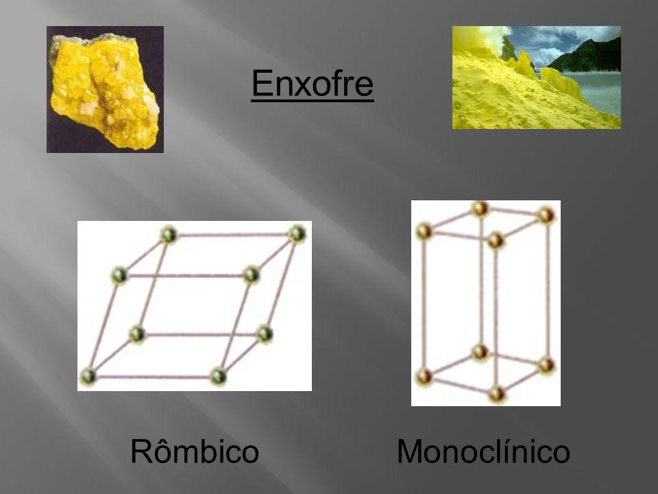 Enxofre Rômbico Monoclínico