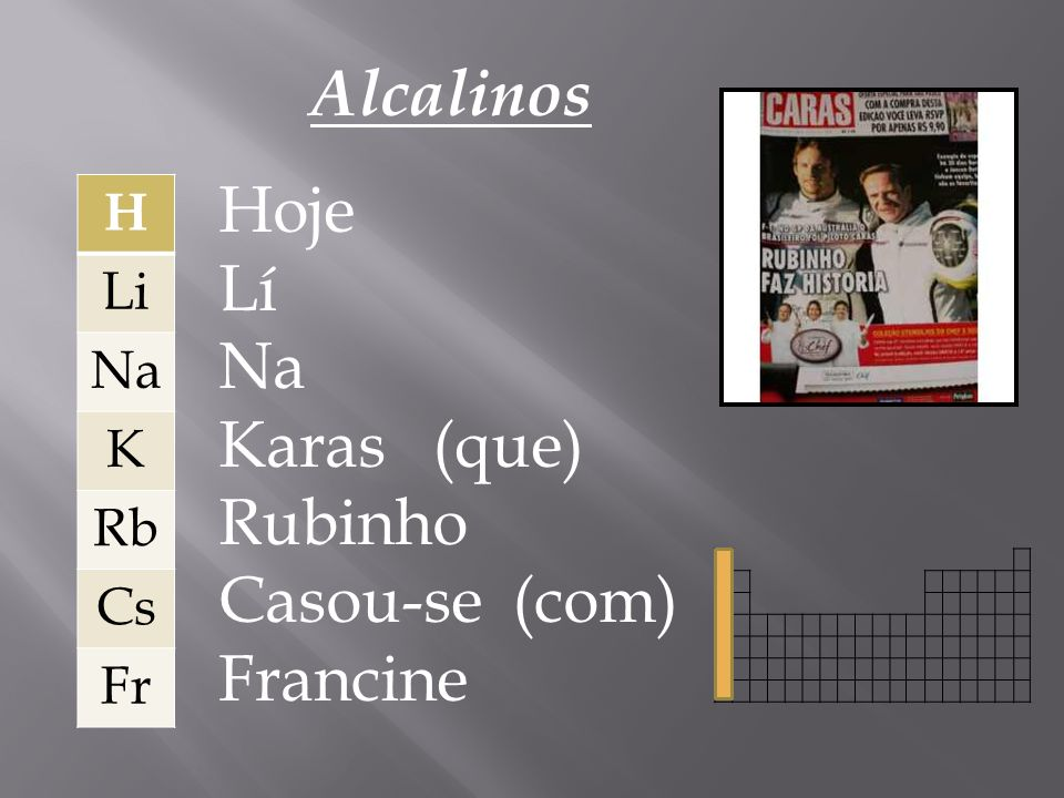 Alcalinos Hoje Lí Na Karas (que) Rubinho Casou-se (com) Francine H Li