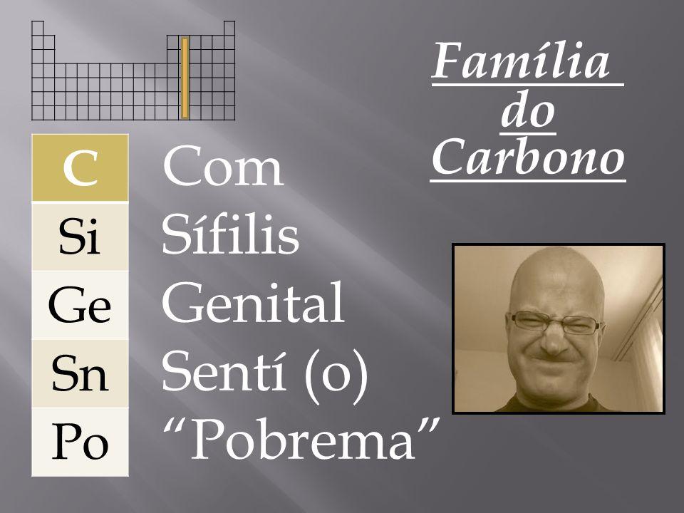 Com Sífilis Genital Sentí (o) Pobrema Família do C Carbono Si Ge Sn