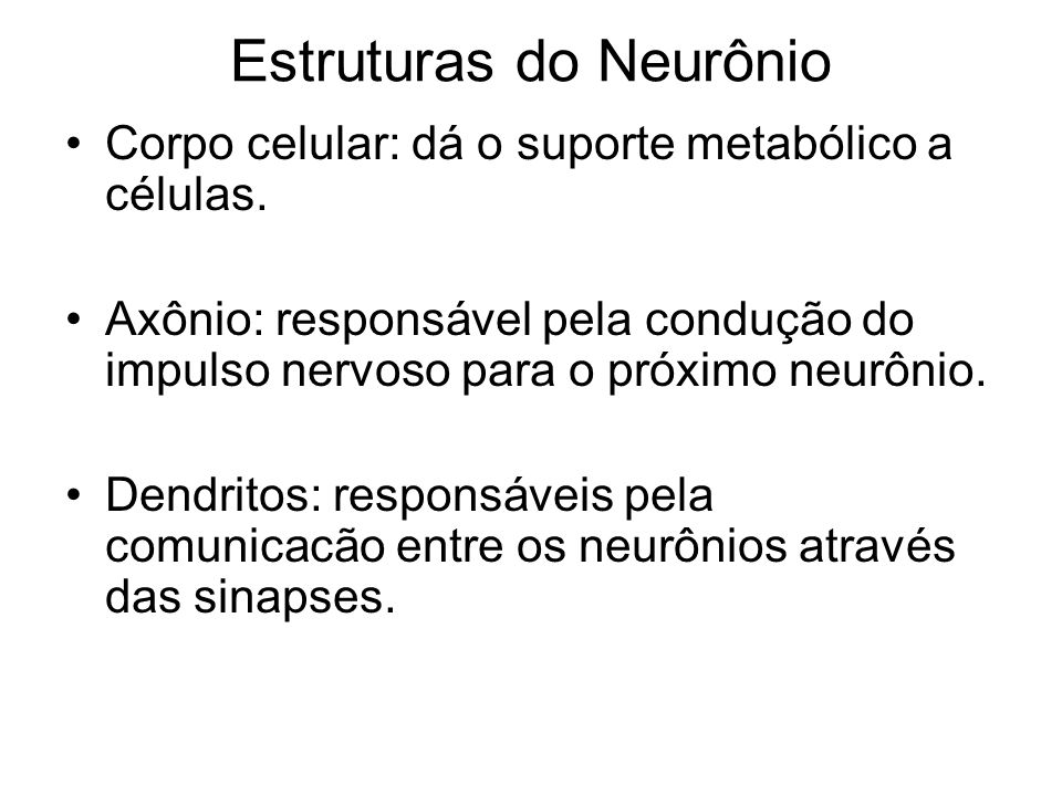 Estruturas do Neurônio