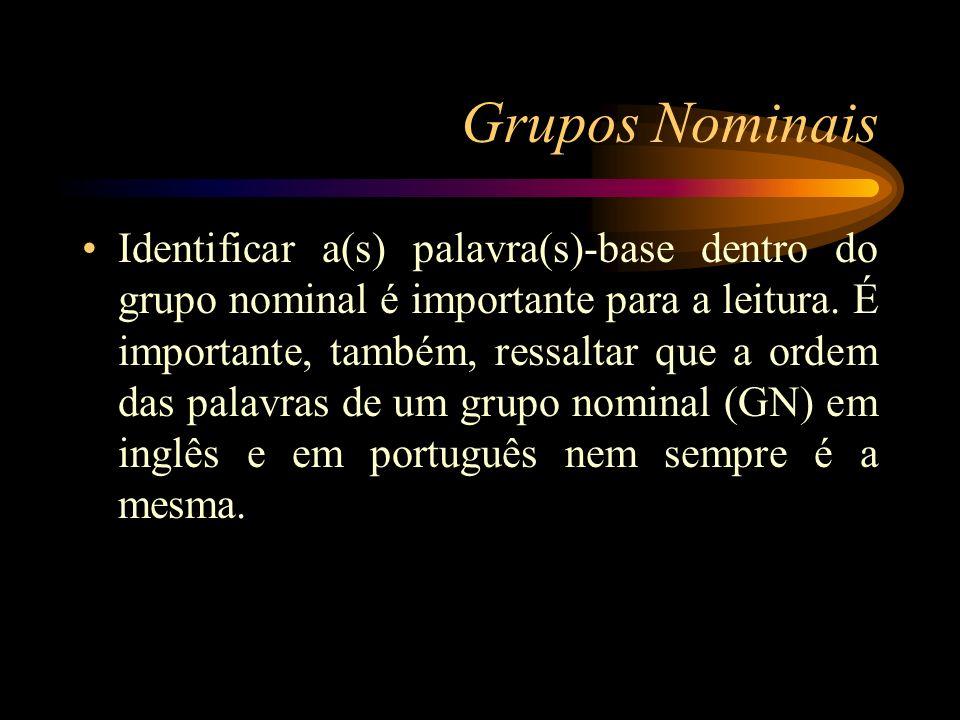 Grupos Nominais