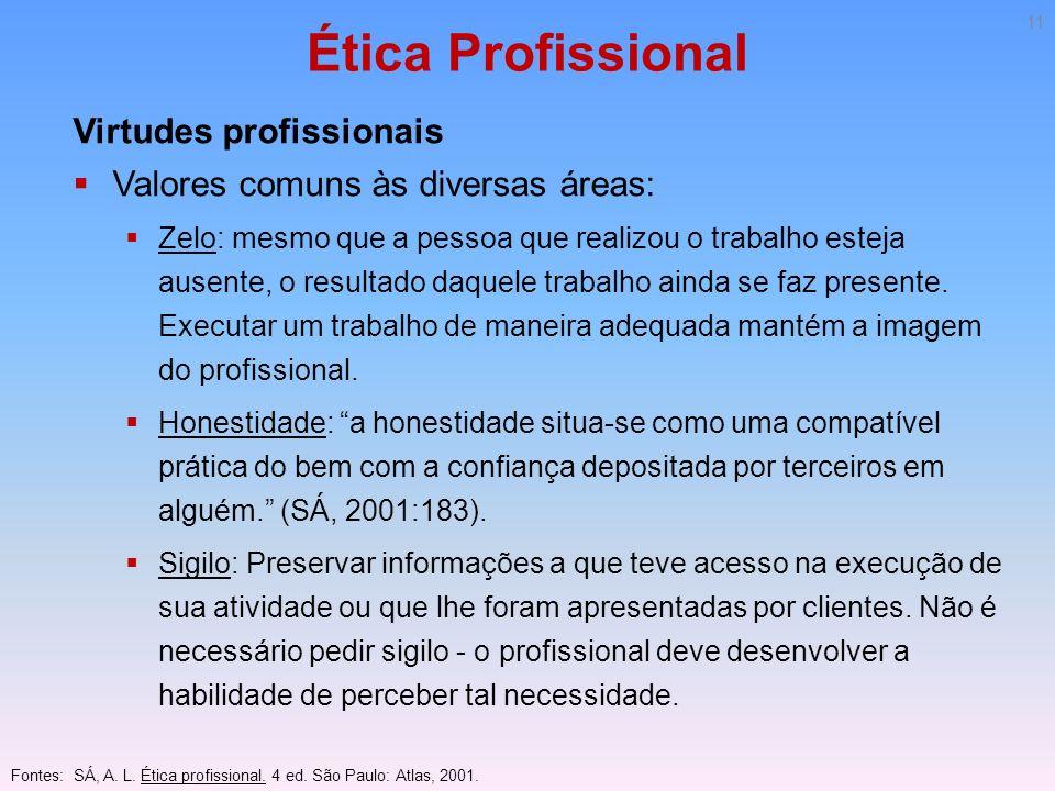 Ética Profissional Virtudes profissionais