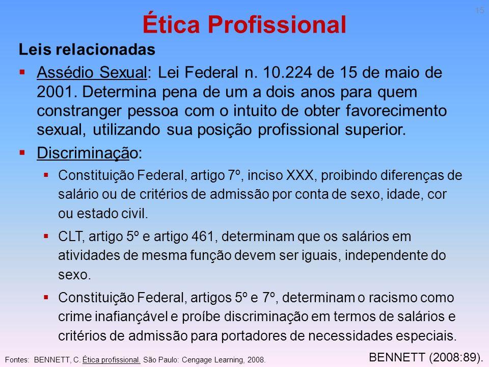 Ética Profissional Leis relacionadas