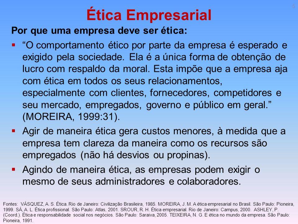 Ética Empresarial Por que uma empresa deve ser ética: