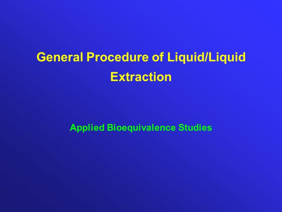 General Procedure of Liquid/Liquid Extraction