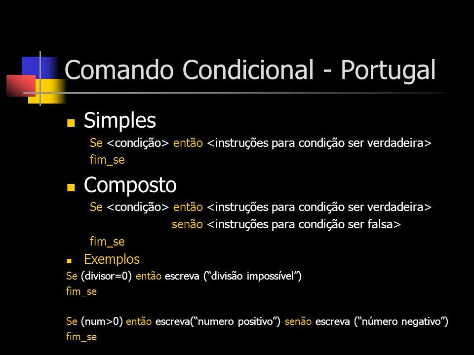 Comando Condicional - Portugal