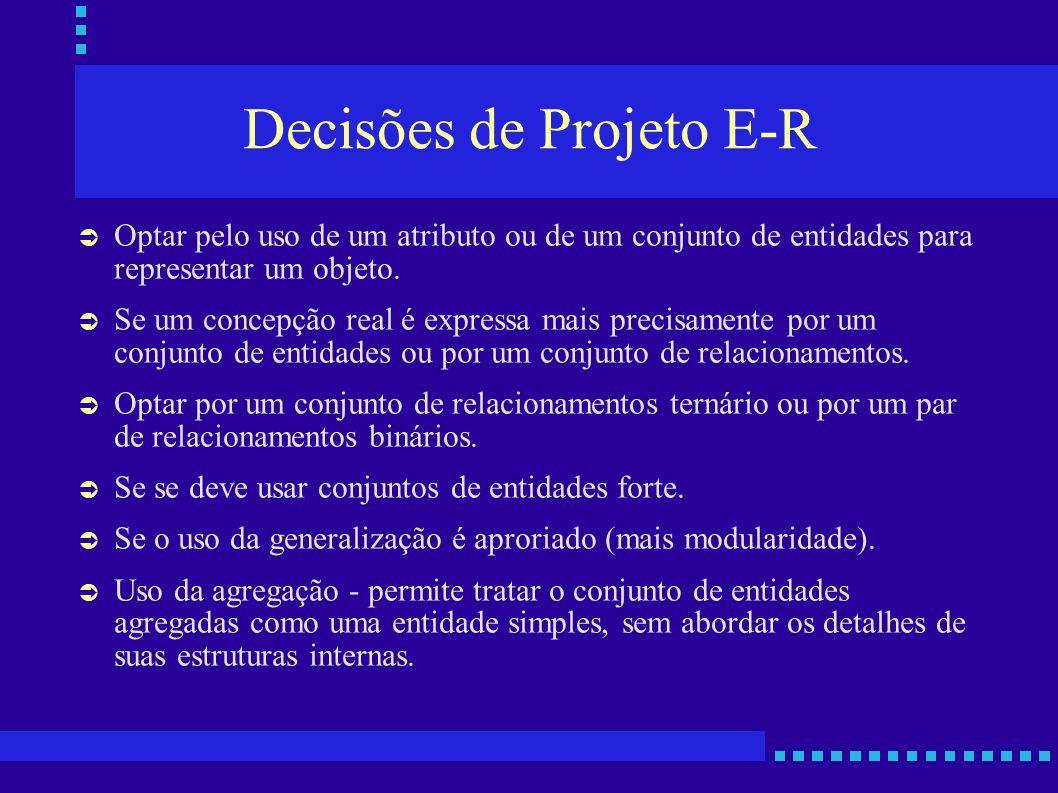 Decisões de Projeto E-R