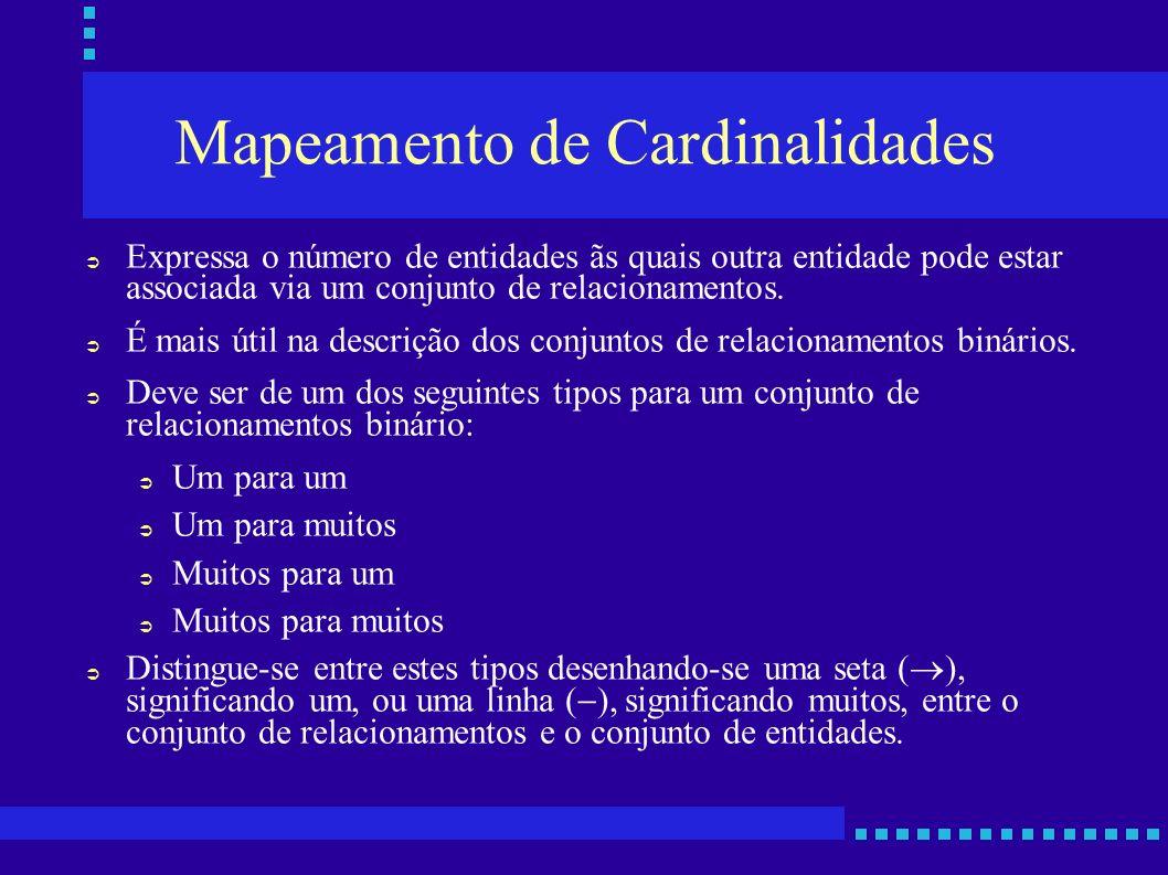 Mapeamento de Cardinalidades