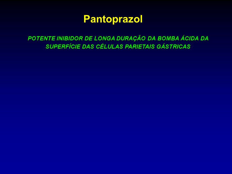 PantoprazolPOTENTE INIBIDOR DE LONGA DURAÇÃO DA BOMBA ÁCIDA DA SUPERFÍCIE DAS CÉLULAS PARIETAIS GÁSTRICAS.