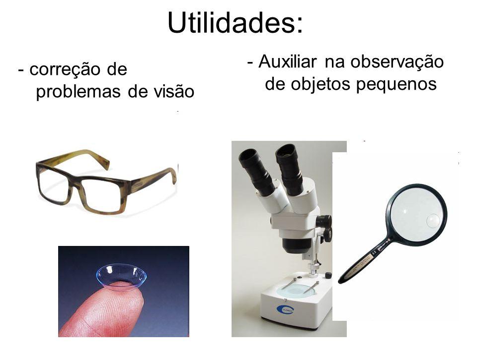 Utilidades: - Auxiliar na observação de objetos pequenos
