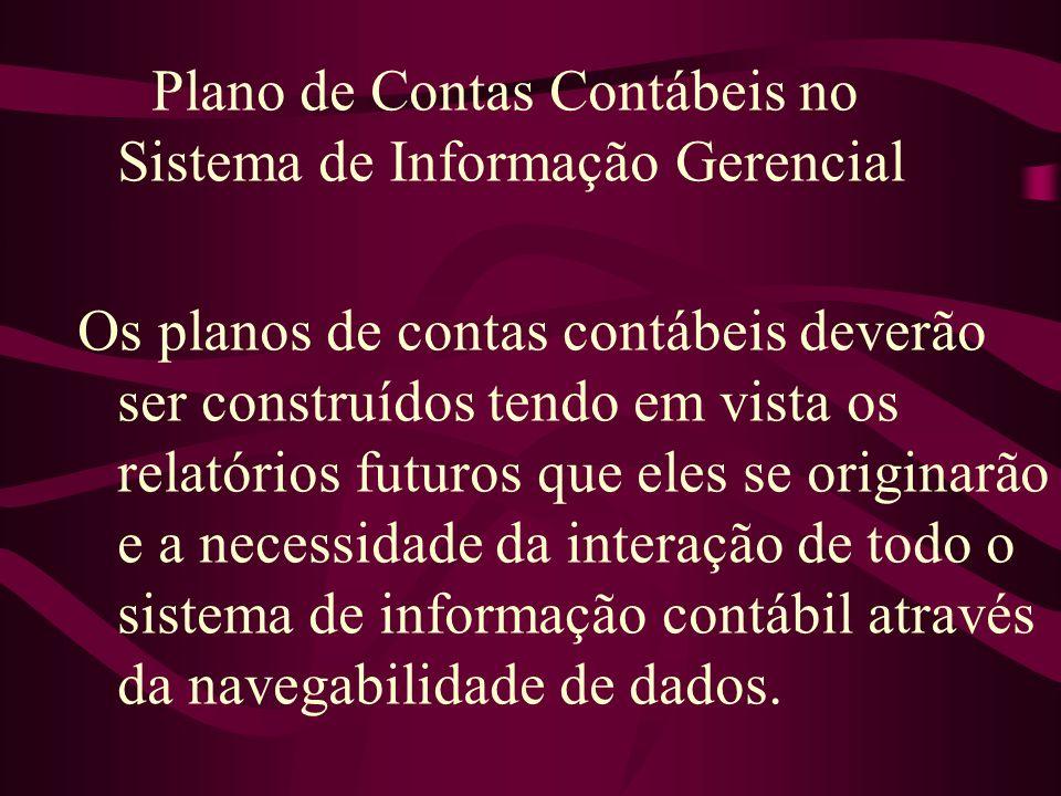 Plano de Contas Contábeis no Sistema de Informação Gerencial