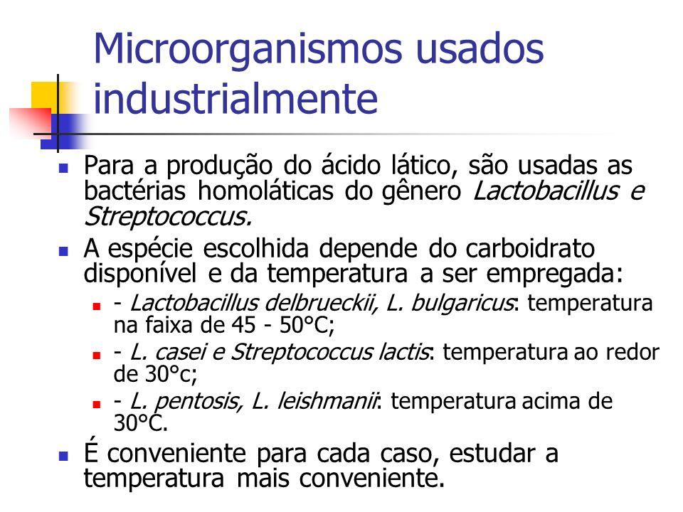 Microorganismos usados industrialmente