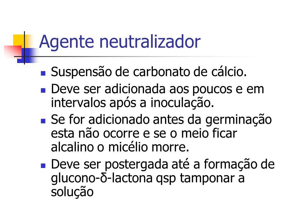 Agente neutralizador Suspensão de carbonato de cálcio.