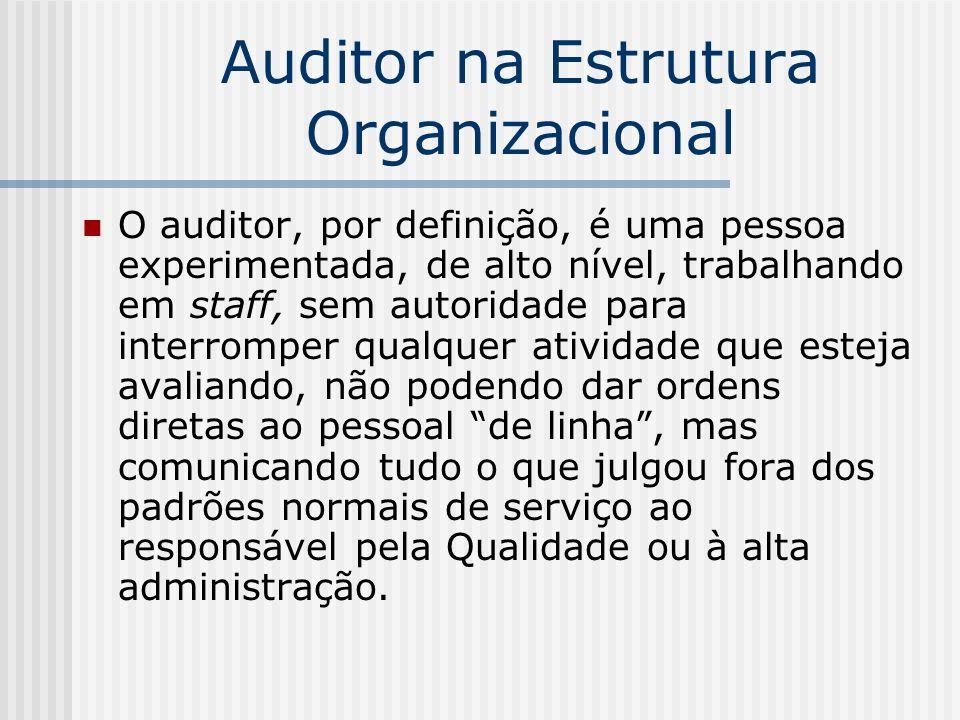 Auditor na Estrutura Organizacional