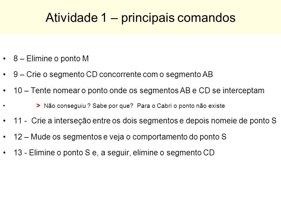 Atividade 1 – principais comandos