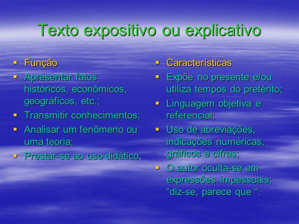 Texto expositivo ou explicativo
