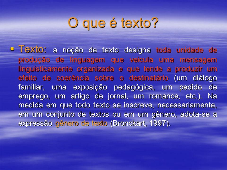 O que é texto