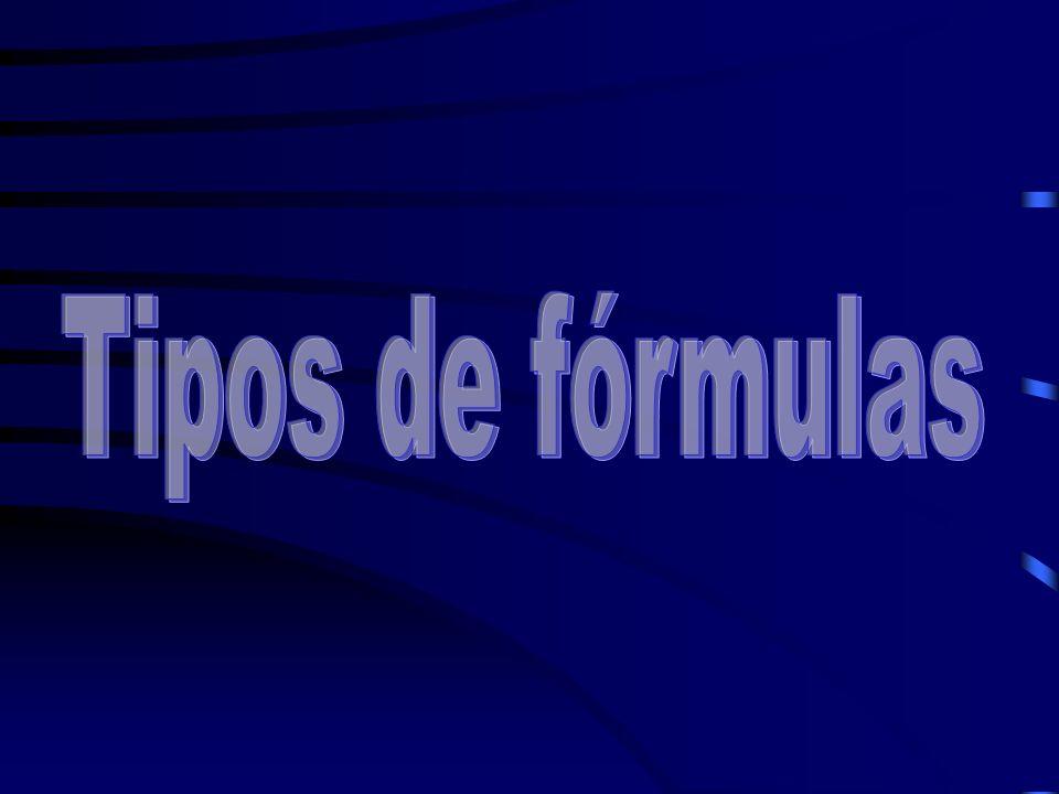 Tipos de fórmulas