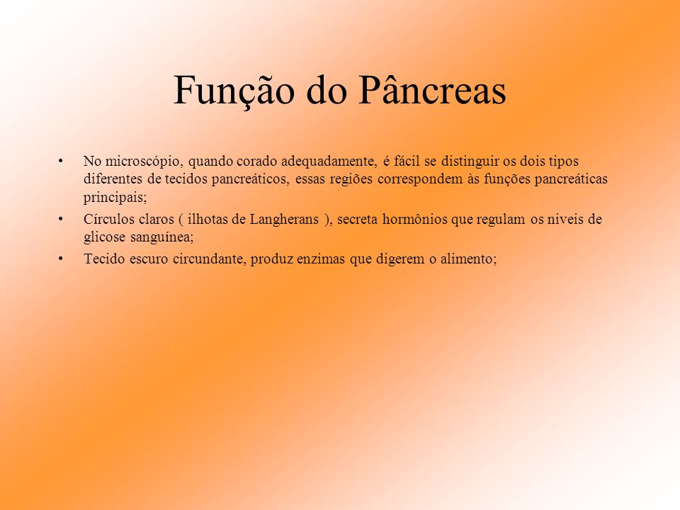 Função do Pâncreas