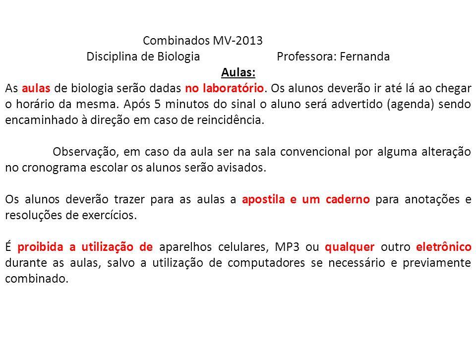 Disciplina de Biologia Professora: Fernanda