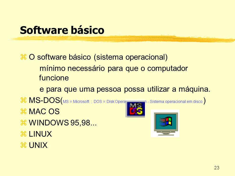 Software básico O software básico (sistema operacional)