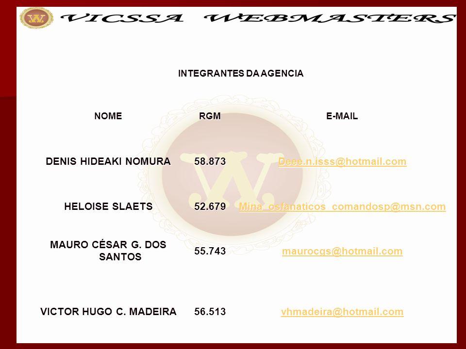 INTEGRANTES DA AGENCIA MAURO CÉSAR G. DOS SANTOS