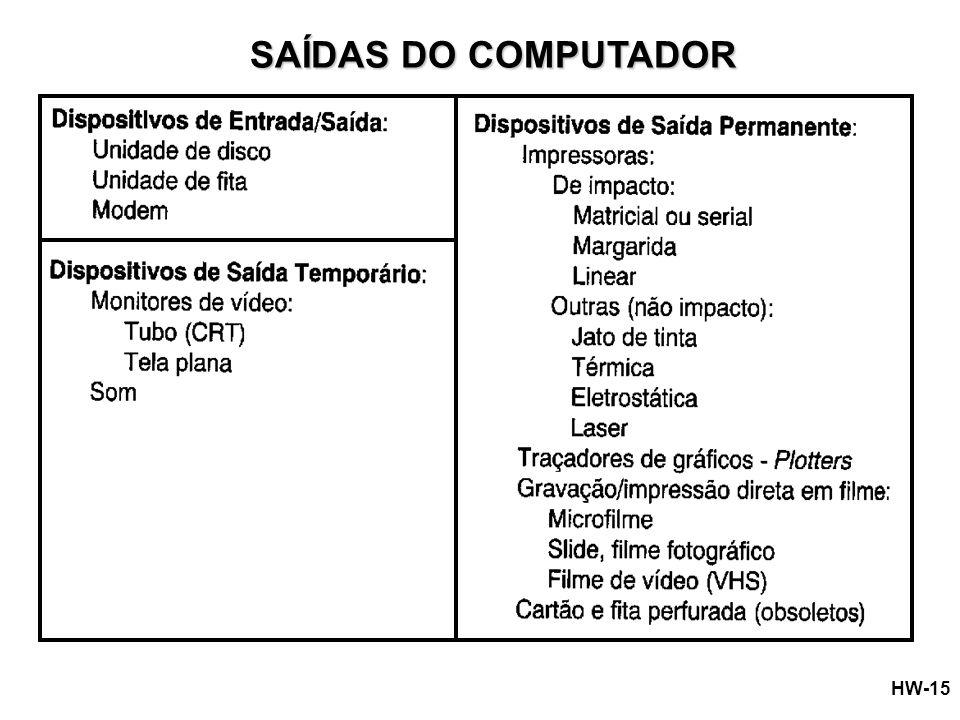 SAÍDAS DO COMPUTADOR