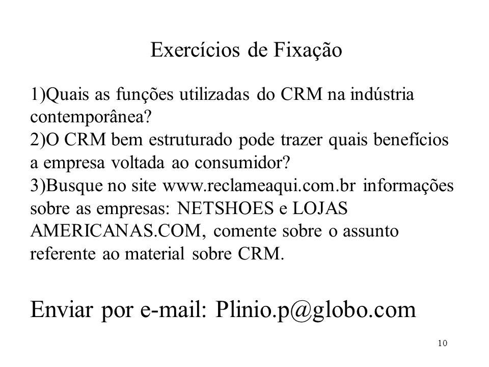 Enviar por e-mail: Plinio.p@globo.com