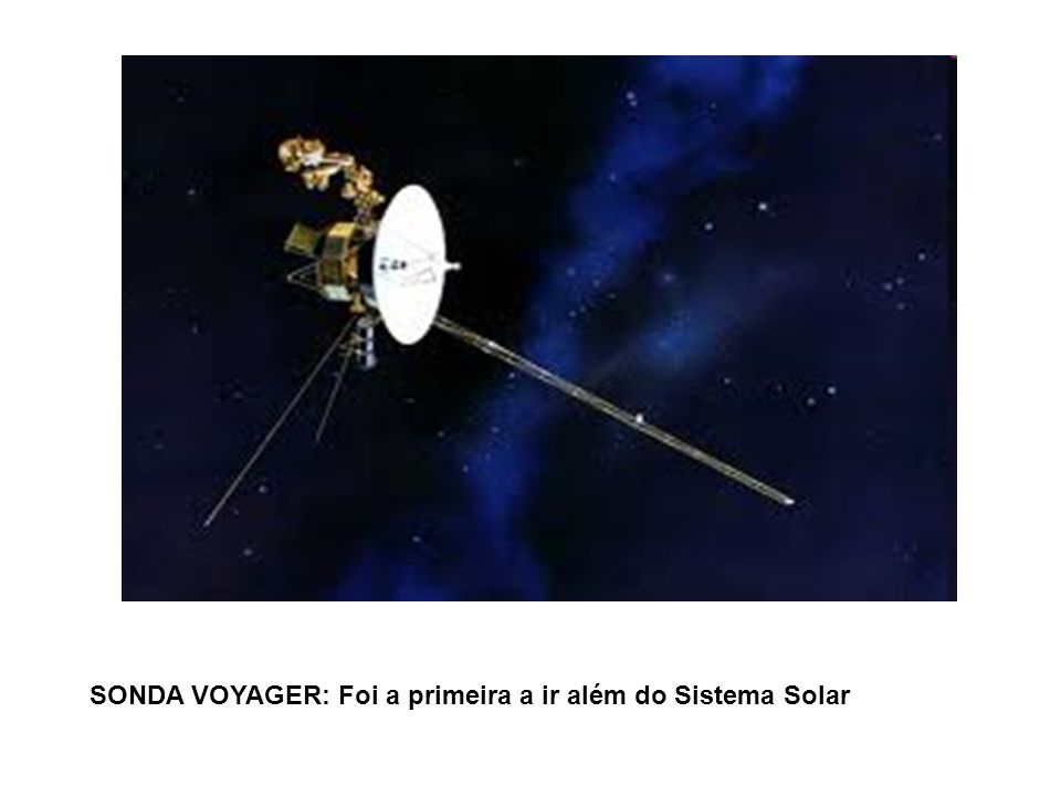 SONDA VOYAGER: Foi a primeira a ir além do Sistema Solar