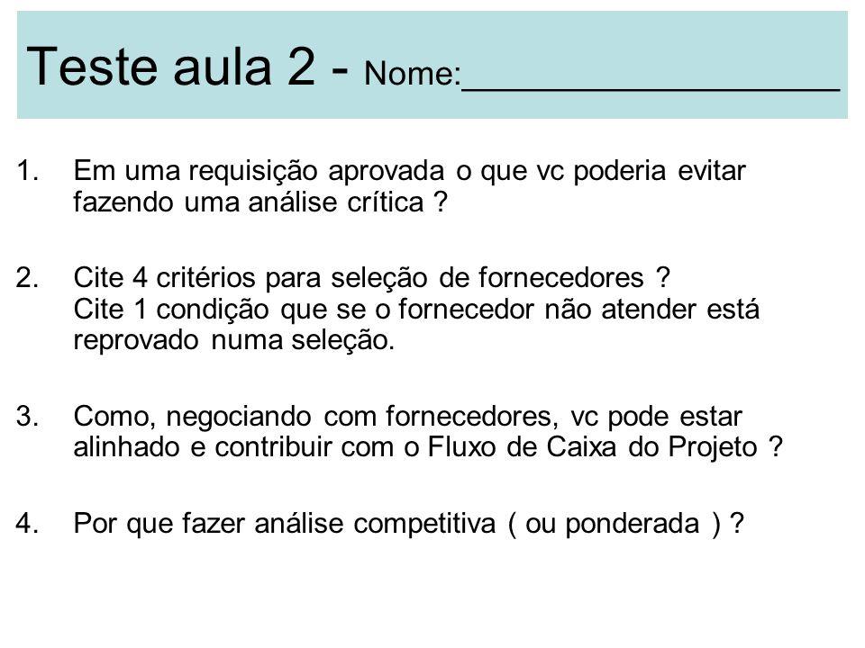 Teste aula 2 - Nome:____________________