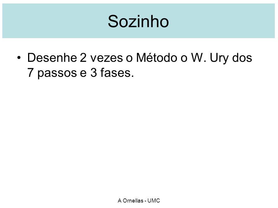 Sozinho Desenhe 2 vezes o Método o W. Ury dos 7 passos e 3 fases.