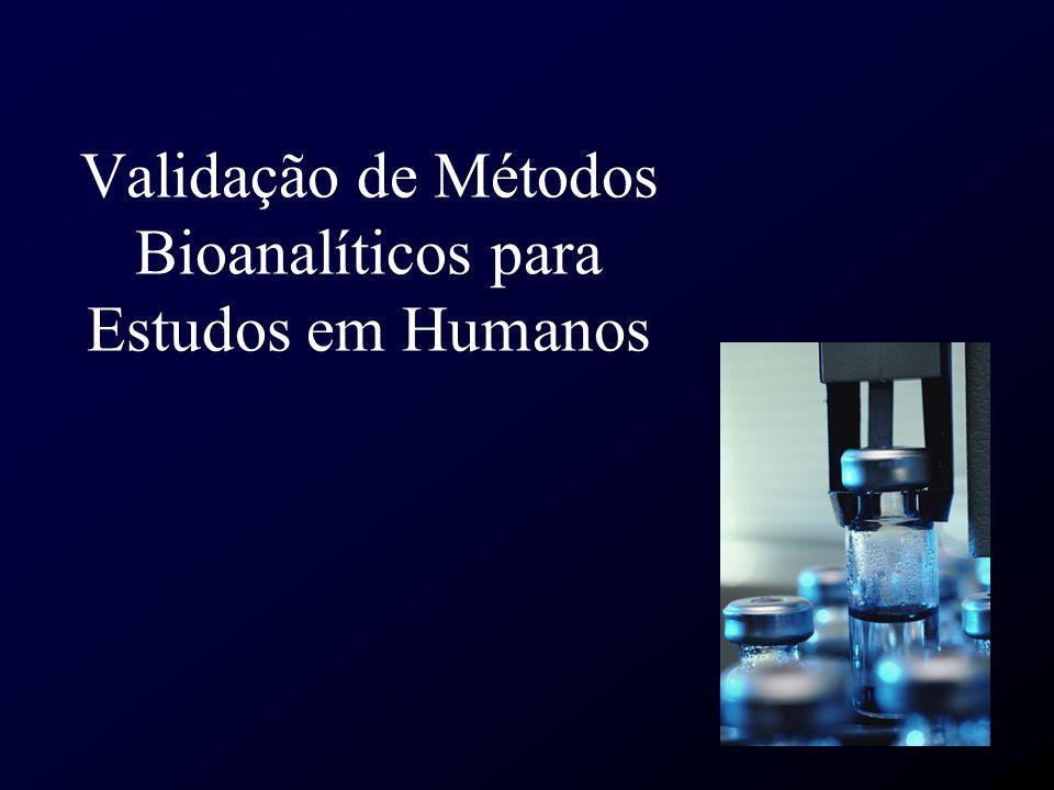 Validação de Métodos Bioanalíticos para Estudos em Humanos