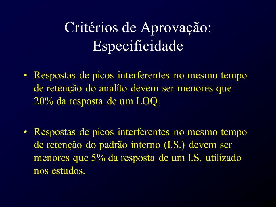Critérios de Aprovação: Especificidade