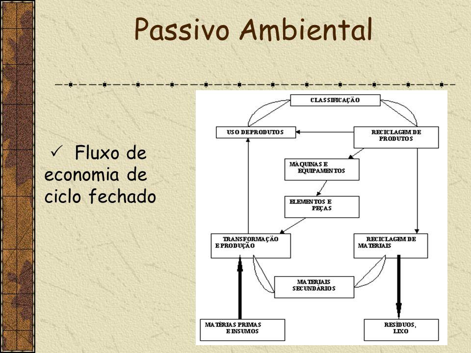 Passivo Ambiental  Fluxo de economia de ciclo fechado