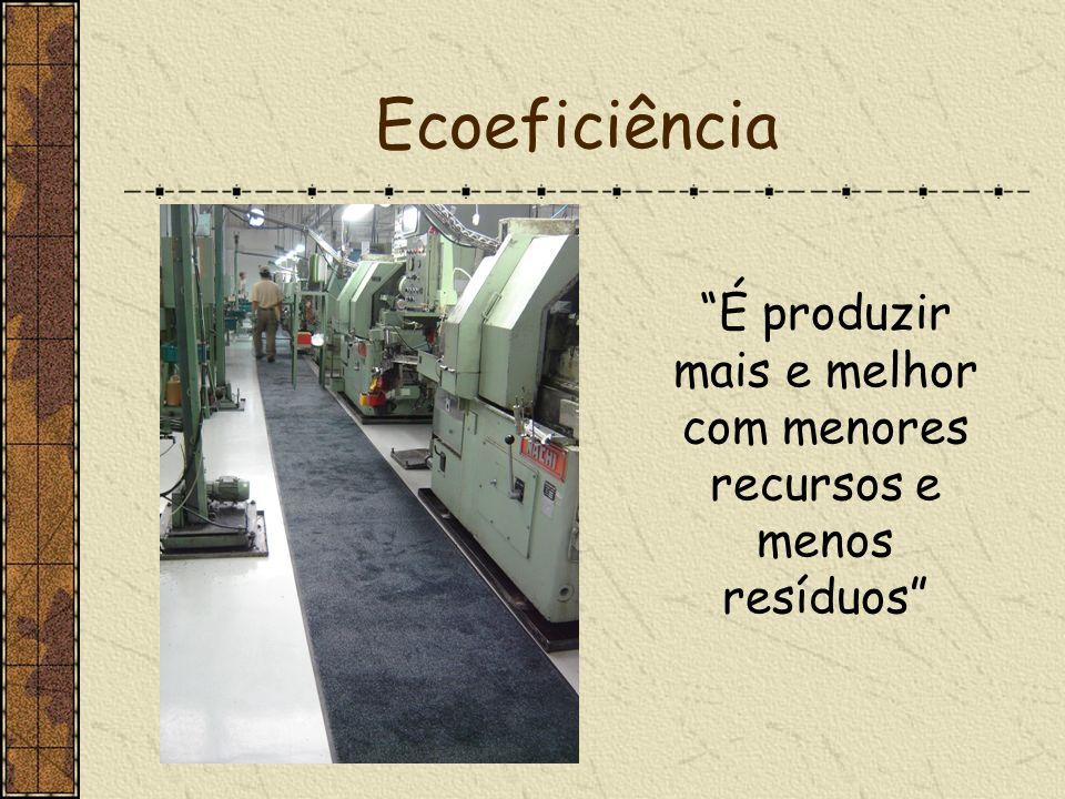 É produzir mais e melhor com menores recursos e menos resíduos
