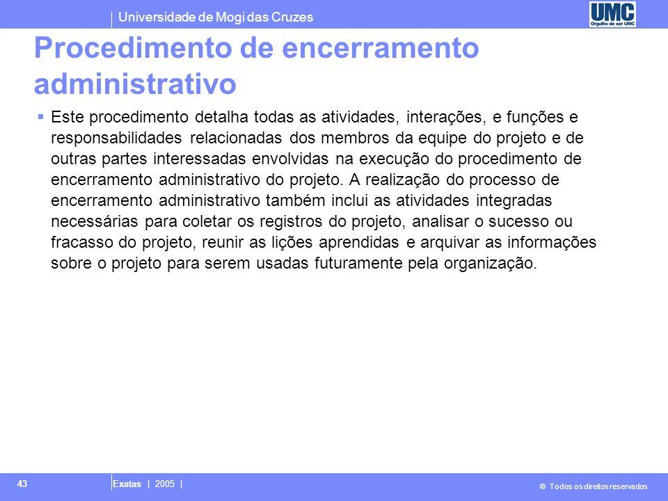 Procedimento de encerramento administrativo
